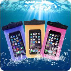 Caja de la bolsa subacuática de pvc a prueba de agua bolsa de buceo para teléfonos móviles para el iphone 4s/5s/6/6 plus para samsung galaxy s3/s4/s5/nota $ number/3/4