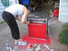 maybe i can paint my appliances red! @Melinda Hughes?