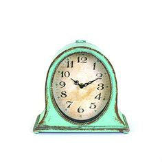 Buy Creative Aqua Metal Table Clock - Topvintagestyle.com ✓ FREE DELIVERY possible on eligible purchases