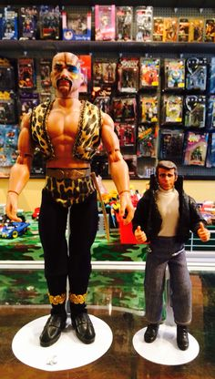 "1979 #Mego 12"" Tiger man (#BuckRogers)  & 1976 #Fonzie (#HappyDays) with thumb action."