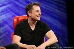 He laughs bashfully when sharing the concept of Hyperloop at D11 #elonmusk