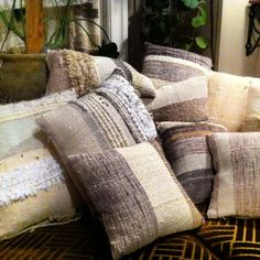 handwoven pillow cases by Jess Feury