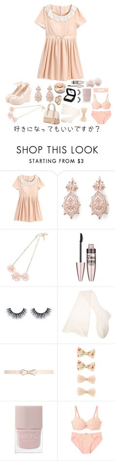 """""""Would you mind?"""" by akiko-pastel-princess ❤ liked on Polyvore featuring Vivienne Westwood, Maybelline, CERVIN, River Island, Forever 21 and Nails Inc."""