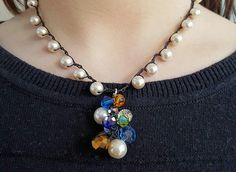 Hey, I found this really awesome Etsy listing at https://www.etsy.com/listing/264018827/pearl-necklace-pendant-necklace-crochet