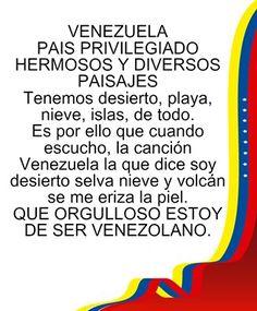 Viva Venezuela, mi Patria querida!!!