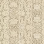 Tianna Brass Ironwork Scroll Wallpaper