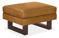 $949 Wells Leather Ottoman - Ottomans - Living - Room & Board