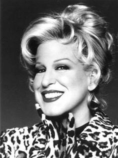 Singer, comedian, actress Bette Midler, also known as The Divine and Miss M. Born 1 December 1945, Honolulu, Hawaii.