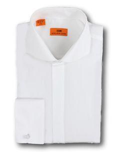 Steven Land solid 100% cotton poplin Dress Shirt