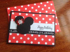 minnie mouse cardClassic red and white by PinkyPromiseBargains, $3.50