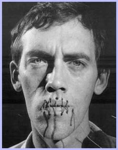 """David Wojnarowicz - Self-portrait of the artist/activist behind last year's """"scandal"""" at the Smithsonian last year. A.) Stop supporting the Smithsonian, if you haven't already. B.) Look this guy up. He wasn't just a great artist, but put-your-money-where-your-mouth-is early activist for anti-censorship, AIDS research, and artist's rights."""