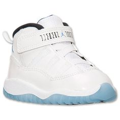 Kids' Toddler Air Jordan Retro 11 Basketball Shoes | Finish Line | White/Legend Blue/Black