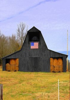 Black & Beautiful American Hay Barn