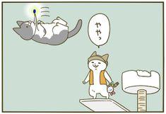 空から   うちの猫がまた変なことしてる。【猫まんが】