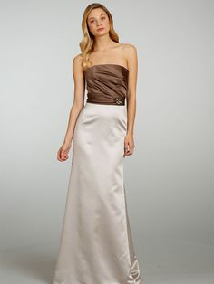 21db2521eb800 This elegant Occasions by Jim Hjelm dress has a satin fabric and strapless  neckline with a