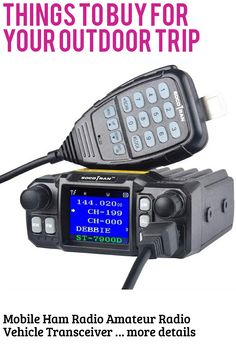 Mobile Ham Radio Amateur Radio Vehicle Transceiver Quad-Standby Quad Band UHF 400~480 MHz(350~390 MHz) VHF 136~174 MHz(220~260 MHz) Mini Color Screen 25W/20W with Long Range Black … (This is an affiliate link) #campinggadgets