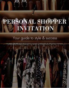 Personal Shopper Invitation #savvyscloset