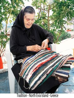 Greek Yiayia keeping up with the Traditions- in Evia Island, Greece
