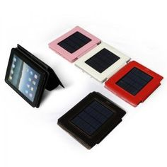 Solar powered iPad case and charger