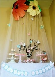 Link leads to somewhere completely different, but I love the table backdrop with the butterflies!