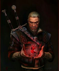 Geralt -the witcher art. The Witcher Books, The Witcher Game, The Witcher Wild Hunt, The Witcher Geralt, Witcher Art, Ciri, Character Concept, Character Art, Character Design