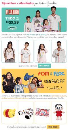E-mail extra das marcas Villa Enzo, Fom e Floc Villa, Shopping, Babydoll Sheep, Branding, Villas, Mansions
