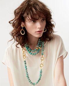 Two-Strand Amazonite Beaded Necklace