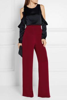 3f9676ade01ed Cushnie - Silk crepe de chine wide-leg pants
