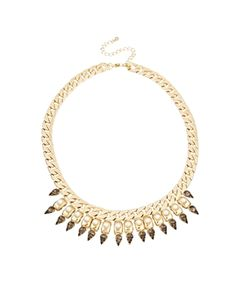 New Look Spike Pearl Necklace