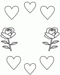 Desenhos de Amor para imprimir e pintar