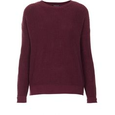 TOPSHOP Grunge Ribbed Jumper (215 BRL) ❤ liked on Polyvore featuring tops, sweaters, topshop, jumper, long sleeves, mulberry, ribbed top, jumpers sweaters, purple sweater and long sleeve sweater
