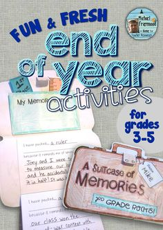 6 fun and fresh End-of-Year activities! Lots of creative writing opportunities! Grades 3-5 ($)