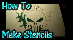 Airbrush Stencils - DIY - Make your own at home!
