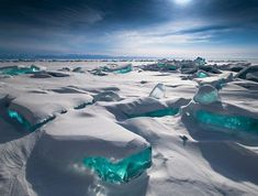 Turquoise Ice, Lake Baikal, Russia - 25 Insanely Breathtaking Places to Visit Before You Die - Purple Clover