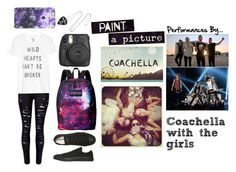 """""""Coachella with the girls"""" by music-lover-885095 on Polyvore featuring Zoe Karssen, Converse, JanSport, women's clothing, women, female, woman, misses and juniors"""