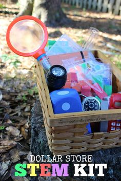 Learning Science, Technology, Engineering, and Math doesn't have to be expensive. Here is a MUST HAVE stem kit for every home and classroom using budget friendly items from the Dollar Store.