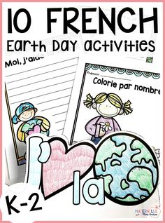 Looking for some fun no/low-prep activities to celebrate Earth Day with your French immersion students? This Earth Day activities pack includes 10 different activities, tout en français, perfect for grades French Teaching Resources, Teaching French, Earth Day Activities, Fun Activities, Eco Friendly Cleaning Products, Love The Earth, French Immersion, Kindergarten Classroom, Some Fun
