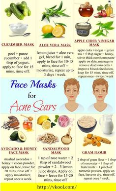 16 Natural homemade face masks for acne scars