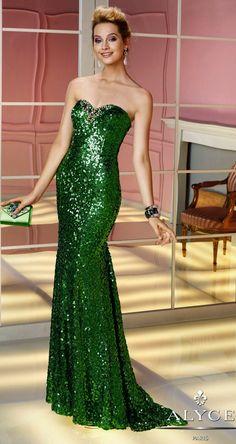 Prom DressesEvening Dresses by ALYCE PARIS6221Sequins Mermaid!