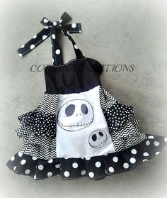 Jack, Nightmare Before Christmas, Halloween, OTT, Pageant, OOC, Boutique Style size Ruffle dress NB 3  6 9 12 24 months, size 2 3 4 5T on Etsy, $42.99