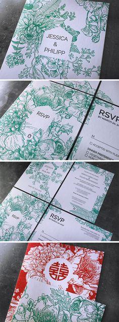 Letterpress Hochzeitseinladung bestehend aus Save the Date, Einladung und RSVP Karte. Letterpress, Event Ticket, Rsvp, Business Cards, Letterpress Printing, Letterpresses