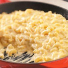 Skillet Mac & Cheese (Macaroni & Cheese).  I want to try this in the crock pot, but I am still not so sure about velveeta. . .