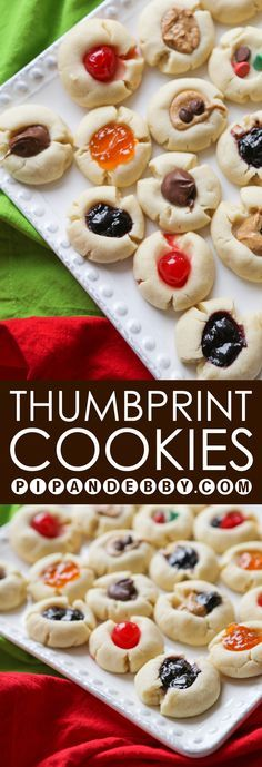 Thumbprint Shortbread Cookies | These are the TASTIEST Christmas cookies I have ever made. They are ridiculously easy to make, with only a few ingredients. Feel free to use your creativity with the fillings!