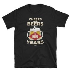 Cheers and Beers To 45 Years T-Shirt – Birthday Gift - bestgiftsideas Cheers And Beers To 40 Years, 65th Birthday Gift, Cool Shirts, Awesome Shirts, T Shirt, Etsy, 30 Years, 30th, Shirt Ideas