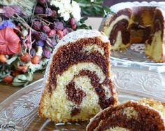 Simple marble ball cake, Food And Drinks, Simple Marmorgugelhupf, made so delicious and fast :-] ring cake Baking Recipes, Cake Recipes, Dessert Recipes, Whipped Cream Cakes, Ring Cake, Eating For Weightloss, Natural Yogurt, Angel Cake, Cakes And More