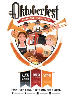 Oktoberfest Poster on Behance by Annika de Korte