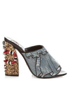 df62cc966ecd GUCCI Owen hand-embroidered sequin sandals Studded Sandals