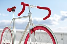 Red Blooded fixie by Bravo Cycles