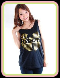 New Wu Tang Clan Gold Foil Hip Hop Rock Women Tank Top T Shirt S, M, L on Etsy, $15.99