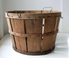 Wooden bushel baskets